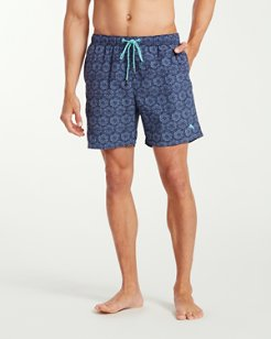 Big & Tall Naples Arta Tile Swim Trunks