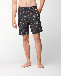 Big & Tall Baja Tiki Tiki Tini Board Shorts