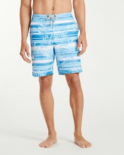 Big & Tall Baja Leaf On The Water Board Shorts