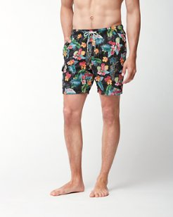 Big & Tall Naples Poker Days Swim Trunks