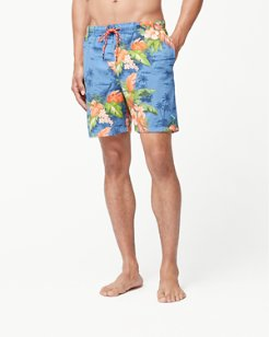 Big & Tall Naples Fiji Ferns Swim Trunks
