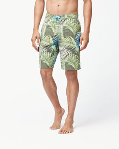 Big & Tall Baja Fez Fronds Swim Trunks