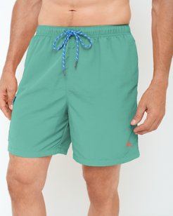 Big & Tall Naples Happy Go Cargo Swim Trunks