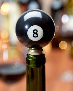 8-Ball Bottle Stopper