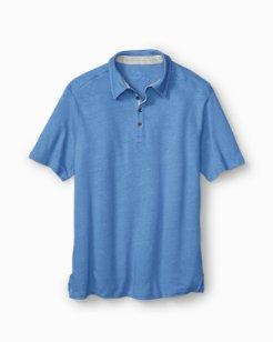 Lido Deck Linen-Cotton Polo