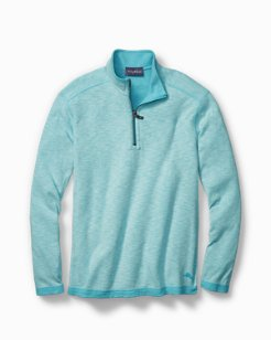 Sea Glass Reversible Half-Zip Sweatshirt