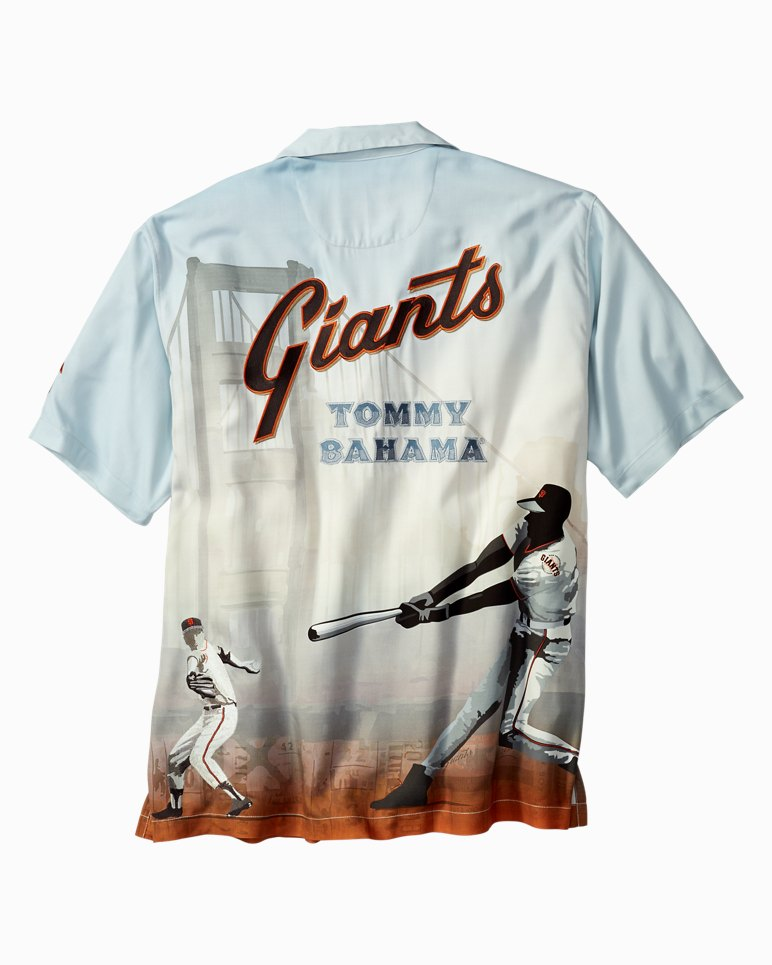Mlb san francisco giants collector 39 s series camp shirt for Custom tommy bahama shirts