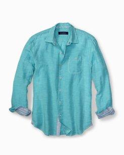 Sand Check Linen-Blend Shirt