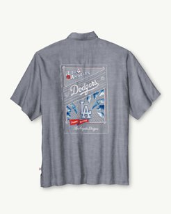 MLB® Dodgers Ocean Oxford Camp Shirt