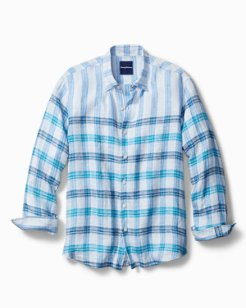 Iliad Plaid Stretch-Linen Shirt