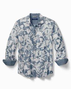 Etched Indigo Chambray Shirt