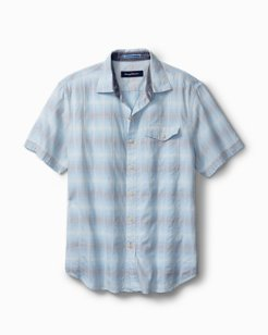 Grecian Venetian Stretch-Cotton Camp Shirt