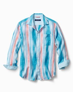 Paros Bay Stretch-Linen Shirt