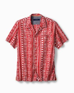 Takoda Tiles Stretch-Cotton Camp Shirt