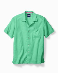 Monaco Tides Stretch-Linen Short-Sleeve Shirt