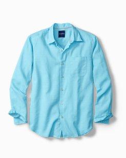 Monaco Tides Stretch-Linen Shirt