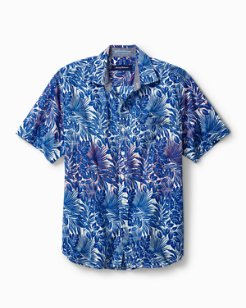 Tide Pool Palms Stretch-Cotton Camp Shirt