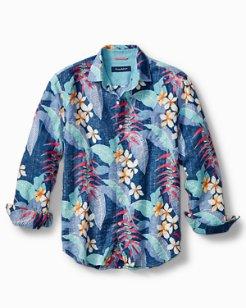 Livia Leaves Linen-Blend Shirt