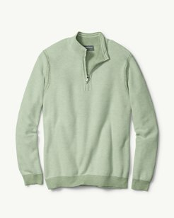 Make Mine A Double Reversible Half-Zip Sweater
