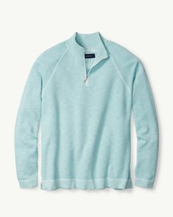 Saltwater Tide Half-Zip Sweater