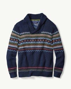 Fair Island Shawl-Neck Sweater