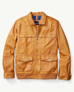 Santiago Leather Aviator Jacket
