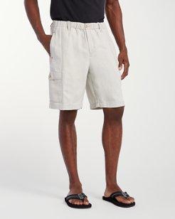 Linen the Dream Linen Blend 10-Inch Cargo Shorts