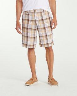 Island Duo 10-Inch Reversible Linen Shorts
