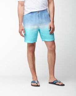 Fade Away Beach 9-Inch Linen Shorts