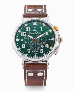 Bay View Dual-Time Chronograph Watch