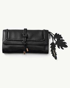 Grenada Leather Wristlet Clutch