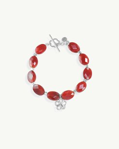 Faceted Large Bead Bracelet by Lois Hill