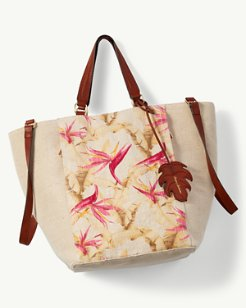 Coral Reef Convertible Linen Tote