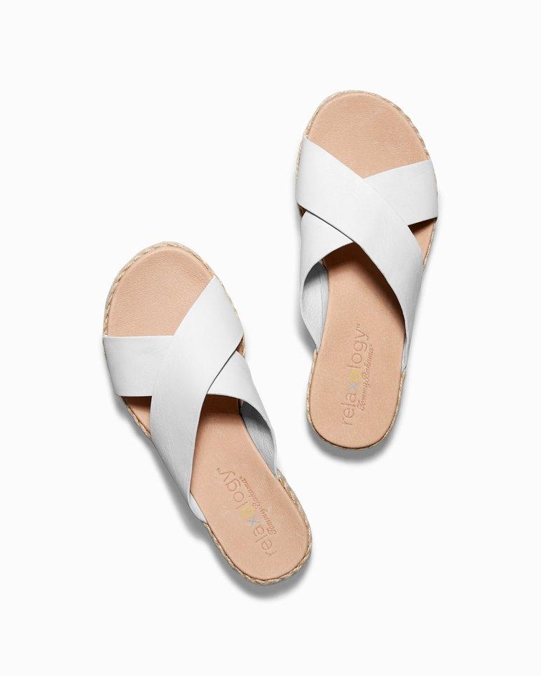 Main Image for Relaxology® Ilidah Leather Slide Sandals