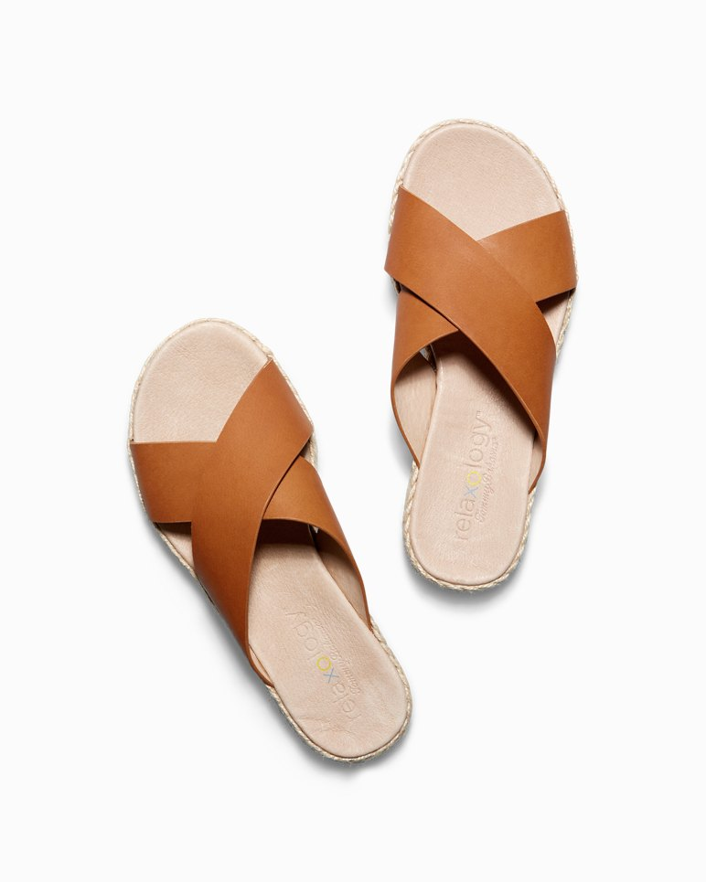 Main Image for Relaxology® Ilidah Leather Slide Sandals