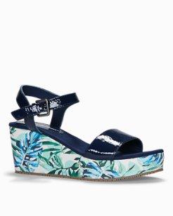 Seleena Leather Wedge Sandals