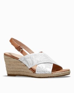 Jasmynn Leather Wedge Sandals