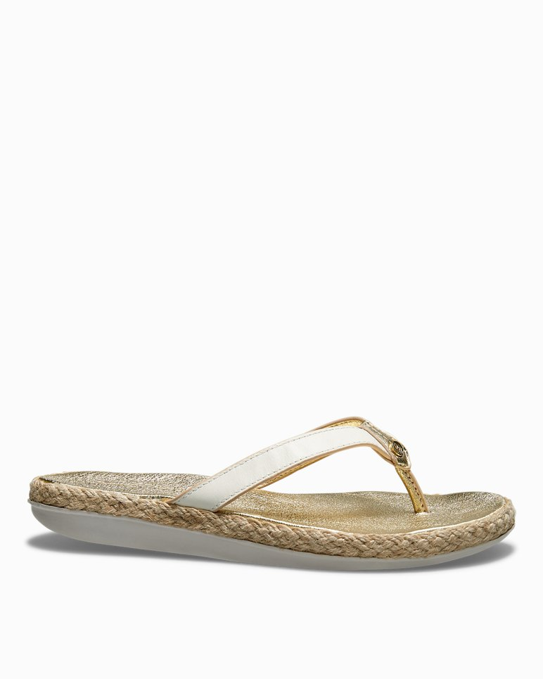 Main Image for Relaxology® Ionna Leather Flip Flops