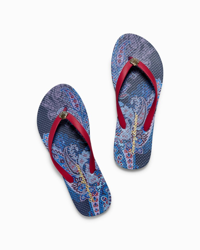 Main Image for Whykiki Paisley Leaves Flip Flops