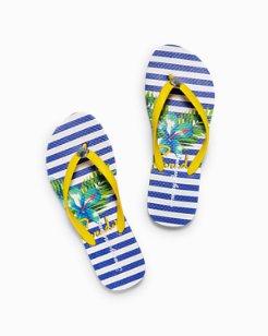 Whykiki Hibiscus of Paradise Flip Flops