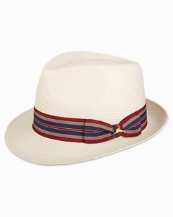 Fine Woven Fedora With Ribbon
