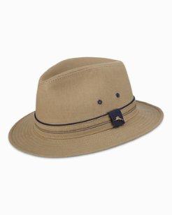 Linen-Blend Safari Hat