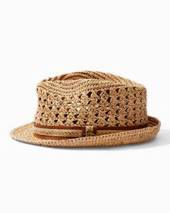 Crocheted Raffia Hat