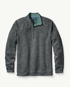 Slubtropic Reversible Half-Zip Sweatshirt