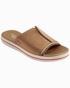 Relaxology® Jareth Leather Slide Sandals