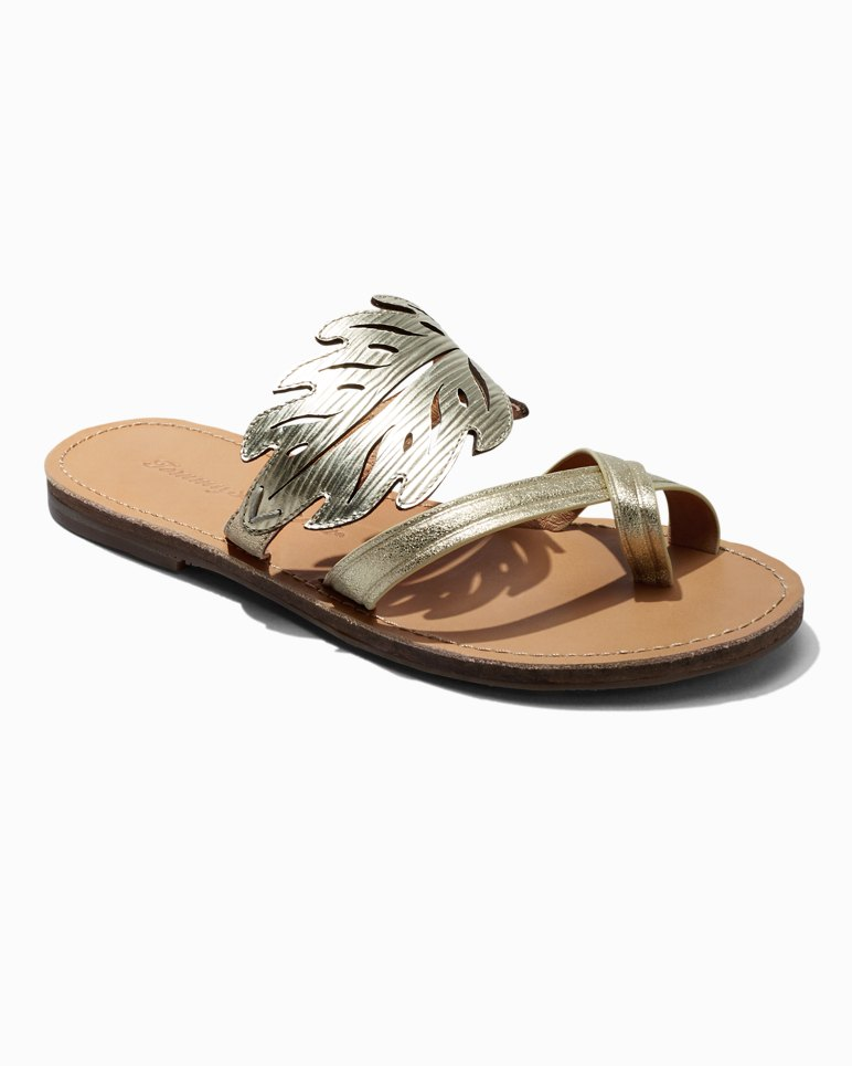 Main Image for Plumeria Leather Flat Sandals