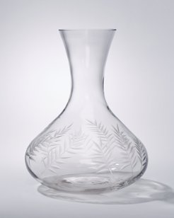 Etched Palm Tree Decanter
