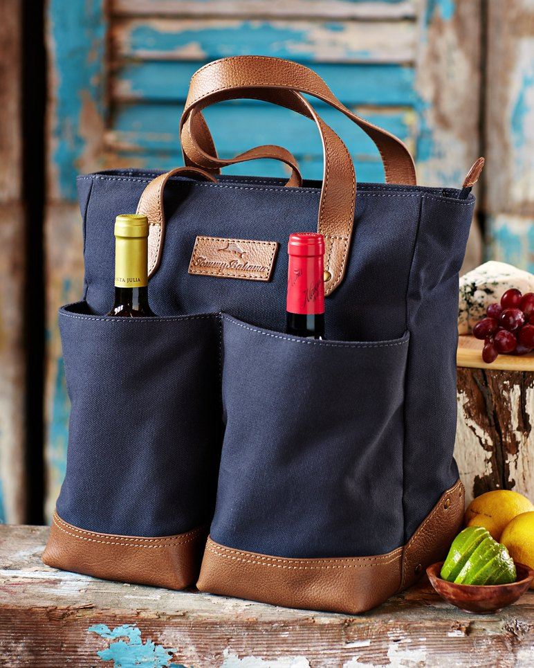 Canvas u0026 Leather Wine Carrier