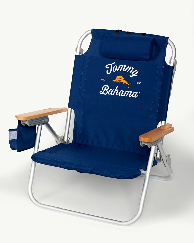 Navy Deluxe Backpack Beach Chair – Deluxe Beach Chairs