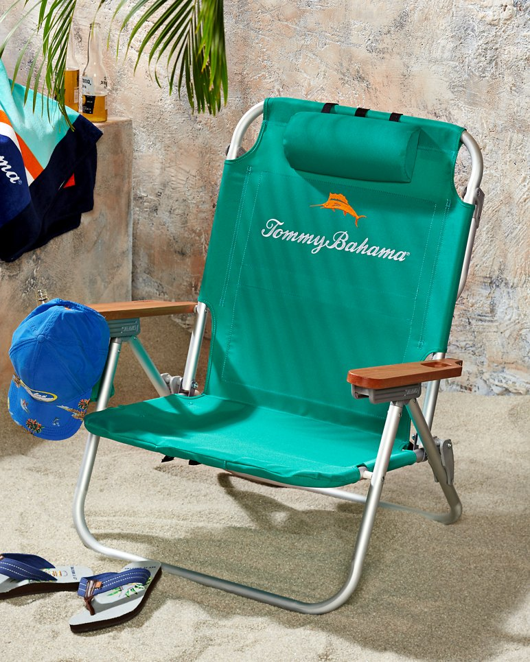 Green Deluxe Backpack Beach Chair – Deluxe Beach Chairs